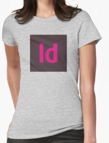 Adobe InDesign Icon Womens Fitted T-Shirt