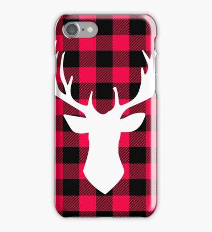 Buffalo Plaid Deer iPhone Case/Skin