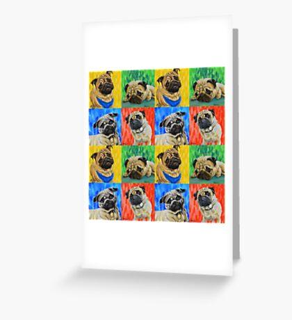 Pug Primary  Greeting Card