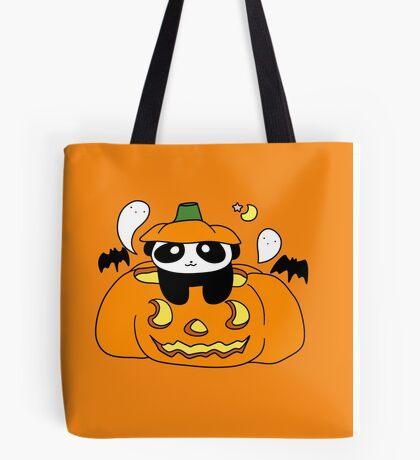 Jack O' Lantern Panda Tote Bag