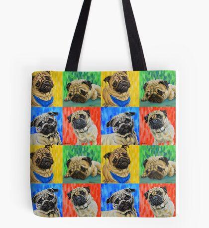 Pug Primary  Tote Bag