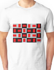 Red, Black and White Unisex T-Shirt