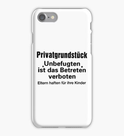 private ground iPhone Case/Skin