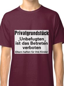 private ground Classic T-Shirt