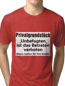private ground Tri-blend T-Shirt