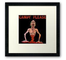 Halloween Candy Please Framed Print