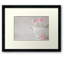 soupes de tulipes Framed Print