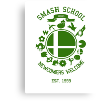 Smash School Newcomer (Green) Canvas Print