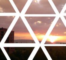 warren sunset Sticker