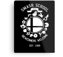 Smash School Newcomer (White) Metal Print
