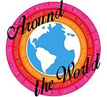 Around The World (Light Background) Photographic Print