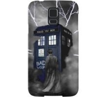 Ligthning Into Blue Bad Wolf Public Police Call Box Samsung Galaxy Case/Skin