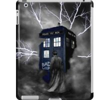 Ligthning Into Blue Bad Wolf Public Police Call Box iPad Case/Skin