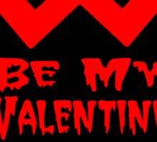 Be My Valentine Heart Sticker