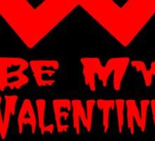 Be My Valentine Heart Sticker