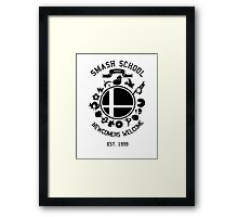 Smash School Newcomer (Black) Framed Print