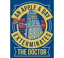 An Apple A Day Exterminates The Doctor Photographic Print