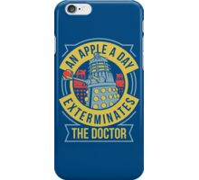 An Apple A Day Exterminates The Doctor iPhone Case/Skin