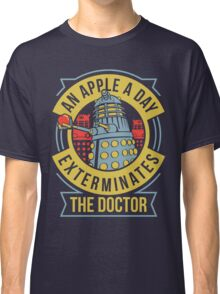 An Apple A Day Exterminates The Doctor Classic T-Shirt