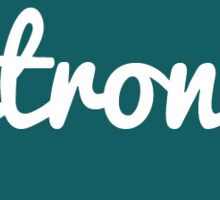 <strong> HTML Tag - Dark Green Cursive Sticker