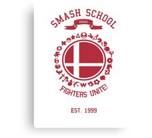 Smash School United (Red) Canvas Print