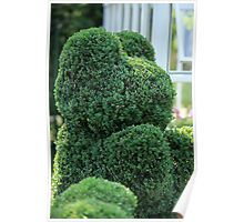 green bear topiary   Poster