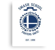 Smash School United (Blue) Canvas Print