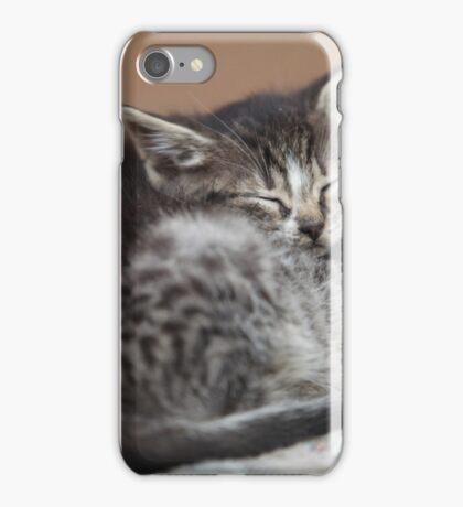sleeping little kittens iPhone Case/Skin