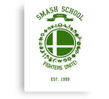 Smash School United (Green) Canvas Print