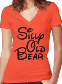 silly old bear 3 Women's Fitted V-Neck T-Shirt