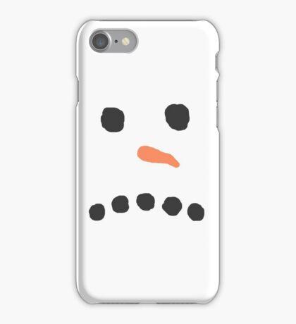 Sad Unhappy Snowman Face Bah Humbug iPhone Case/Skin