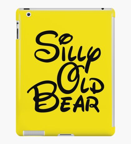 silly old bear 3 iPad Case/Skin