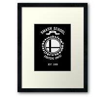 Smash School United (White) Framed Print