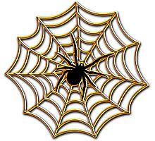 Halloween Spider Web Photographic Print