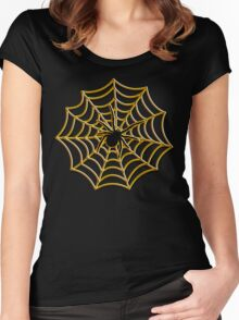 Halloween Spider Web Women's Fitted Scoop T-Shirt