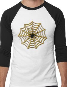 Halloween Spider Web Men's Baseball ¾ T-Shirt