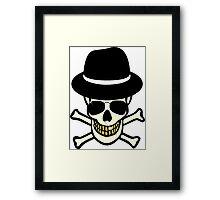Halloween Skull Hipster Framed Print