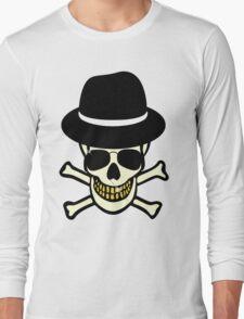 Halloween Skull Hipster Long Sleeve T-Shirt