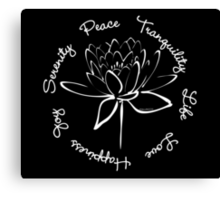 Serenity Tranquility Lotus (White) Canvas Print