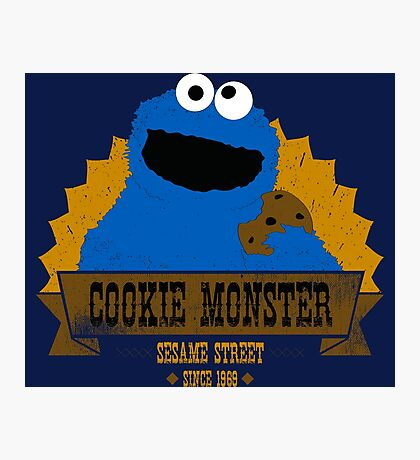 Cookie Monster Photographic Print