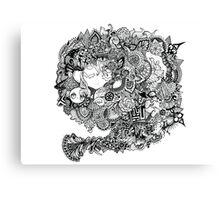 Swim Mangatangle  Canvas Print