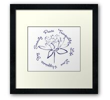 Serenity Tranquility Lotus (Blue) Framed Print