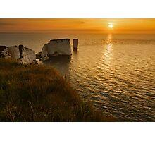 Sunrise Old Harry Rocks Photographic Print