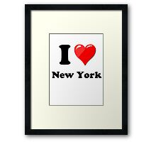 I Love New York State Framed Print