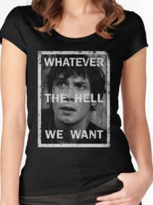 Bellamy - The 100 - Whatever the hell we want Women's Fitted Scoop T-Shirt