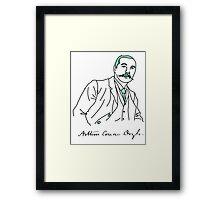 Minimalist Arthur Conan Doyle Framed Print