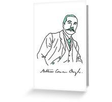 Minimalist Arthur Conan Doyle Greeting Card