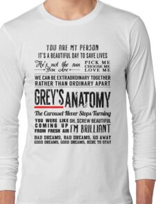 All in one Grey's Anatomy Quotes  Long Sleeve T-Shirt