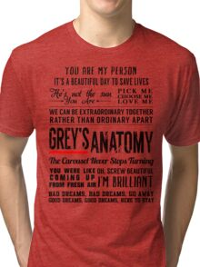 All in one Grey's Anatomy Quotes  Tri-blend T-Shirt