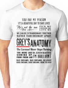 All in one Grey's Anatomy Quotes  Unisex T-Shirt